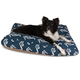 Outdoor Navy Sea Horse Rectangle Pet Bed LG