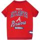 MLB Atanta Braves Dog Tee Shirt Large
