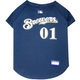 MLB Milwaukee Brewers Dog Jersey X-Small