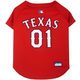 MLB Texas Rangers Dog Jersey Large