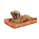 Midwest Orange Floral Paradise Dog Bed 46 inch