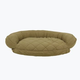 Microfiber Quilted Sage Bolster Dog Bed 48x36x10