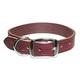Premium Latigo Leather Dog Collar 23 inch Burgundy