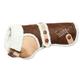 Touchdog Sherpa Bark Designer Dog Coat LG Brown