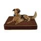 Buddy Beds Brown Luxury Fleece Top Dog Bed 33x40x5