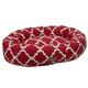 Jax and Bones Monaco Scarlet Donut Dog Bed Xlarge