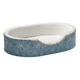 Quiet Time Script Blue Ortho Nesting Dog Bed XS