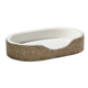 Quiet Time Script Tan Ortho Nesting Dog Bed XS