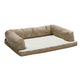 Quiet Time Script Tan Ortho Sofa Dog Bed 36x54