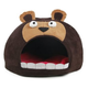 Pet Life Dark Brown Bear Snuggle Fleece Pet Bed