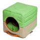 Touchdog Vintage 2in1 Green/Khaki Dog House Bed