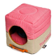 Touchdog Vintage 2in1 Pink/Beige Dog House Bed