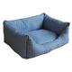 Pet Life Water Resistant Blue Plaid Dog Bed LG