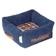 Touchdog Diamond Stitched Blue Dog Bed LG