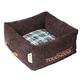 Touchdog Diamond Stitched Dark Brown Dog Bed LG