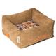 Touchdog Diamond Stitched Light Brown Dog Bed LG
