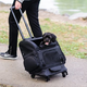 Gen7Pets Pet Roller Carrier Large Black Geometric