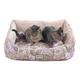 Armarkat Soft Velvet Floral Bolster Pet Bed