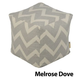 Jax and Bones Melrose Dove Premium Pouf Ottoman