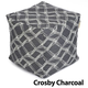 Jax and Bones Crosby Charcoal Pouf Ottoman