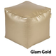 Jax and Bones Glam Gold Vinyl PVC Pouf Ottoman