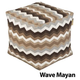 Jax and Bones Wave Mayan Outdoor Poof Ottoman