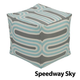 Jax and Bones Speedway Sky Pouf Ottoman