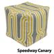 Jax and Bones Speedway Canary Pouf Ottoman
