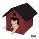 KH Mfg Unheated Barn Red Outdoor Kitty House
