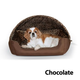 KH Mfg Thermo-Hooded Chocolate Lounger Pet Bed