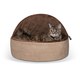 KH Mfg Self-Warming Choc Hooded Kitty Bed Small
