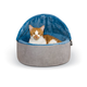 KH Mfg Self-Warming Blue Hooded Kitty Bed Small