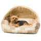 KH Mfg Hooded Lounge Sleeper Tan Dog Bed