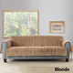 Sure Fit Faux Fur Loveseat Slipcover Smoke Gray