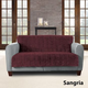 Sure Fit Faux Fur Loveseat Throw Sangria