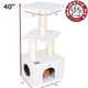 Majestic 40 Inch Bungalow Cat Furniture Tree