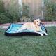 Kensington Black Ice Plaid Bolster Dog Bed XL