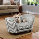 Enchanted Home Pet Grey Chevron Snuggle Dog Bed