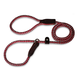 British Reflective Rope Slip Dog Lead 6ft Red