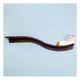 Refined Feline Lotus Branch Cat Shelf Mahogany