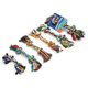 2 Knot Multicolor Rope Bone Dog Toy X-Small