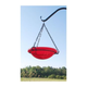 Red Crackle Hanging Birdbath