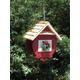 Home Bazaar Christmas Wren Bird Feeder Red