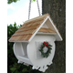 Home Bazaar Christmas Wren Bird Feeder White