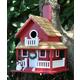 Home Bazaar Christmas Cottage Birdhouse