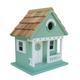Home Bazaar Sand Dollar Cottage Birdhouse Teal
