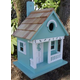 Home Bazaar Sand Dollar Cottage Birdhouse Aqua