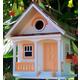 Home Bazaar Peaches N Cream Cottage Birdhouse