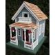 Home Bazaar Newburyport Cottage Birdhouse Blue