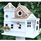 Home Bazaar Sea Cliff Cottage Birdhouse White